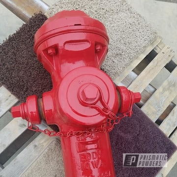 Powder Coated Refinished Vintage Fire Hydrant In Ral 3002
