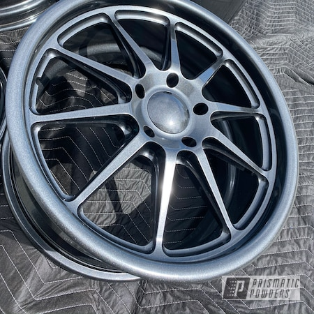 "Powder Coating: Wheels,Automotive,Chevrolet Chevelle,18"" Wheel,Aluminium Rims,Cadillac Grey PMB-6377"