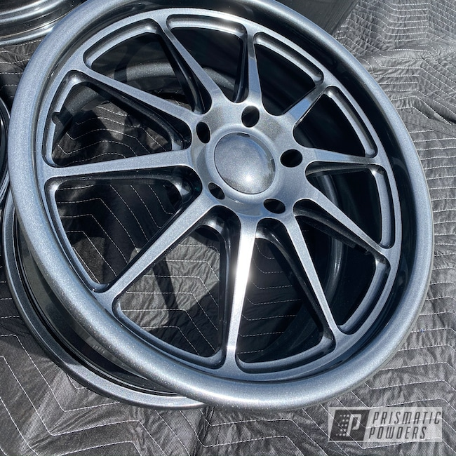 "Powder Coating: Wheels,Automotive,Chevrolet Chevelle,18"" Wheel,Aluminium Rims,Cadillac Grey PMB-6377"