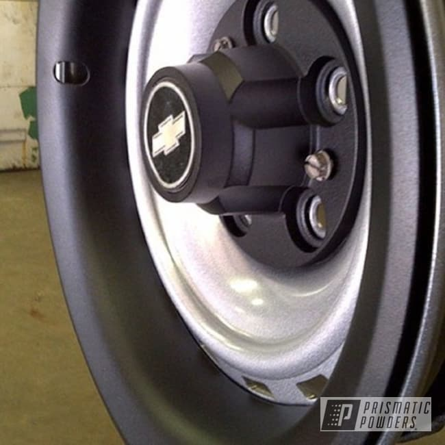 Powder Coating: Wheels,wheel,Heavy Silver PMS-0517,Black,silver,Textured,Dull Black Texture PTB-4355