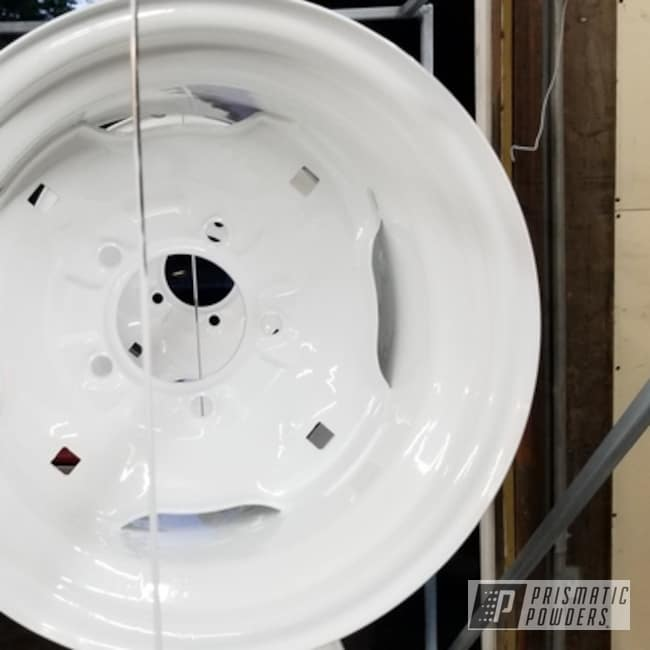 "Powder Coating: Wheels,Automotive,12"" Wheels,Polar White PSS-5053,Tractor"