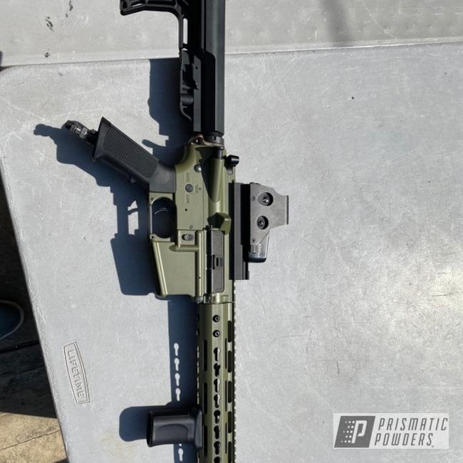 Powder Coating: Airsoft Gun,AR-15,Valken,Army Green PSB-4944