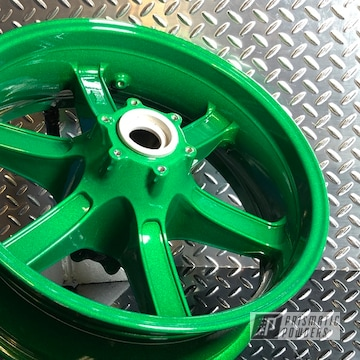 Powder Coated 17s Motorcycle Wheels In Pmb-6917 And Pps-2974