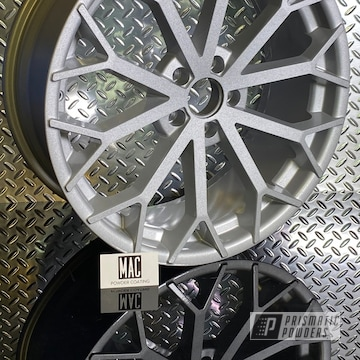 Powder Coated Custom Bmw Rims In Pms-0439 And Pps-2974