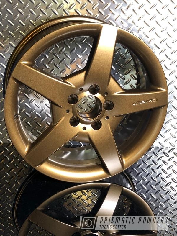 "Powder Coating: Wheels,Automotive,Mercedes,Bronze Chrome PMB-4124,AMG,AMG Wheels,18"" Aluminum Wheels,mac powder coating"