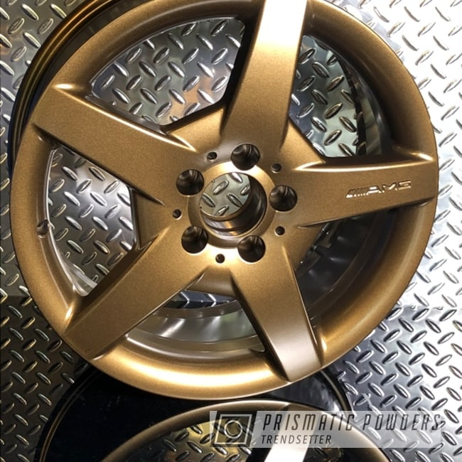"Powder Coating: Wheels,Automotive,Mercedes,Bronze Chrome PMB-4124,AMG,AMG Wheels,18"" Aluminum Wheels,mac powder coating"