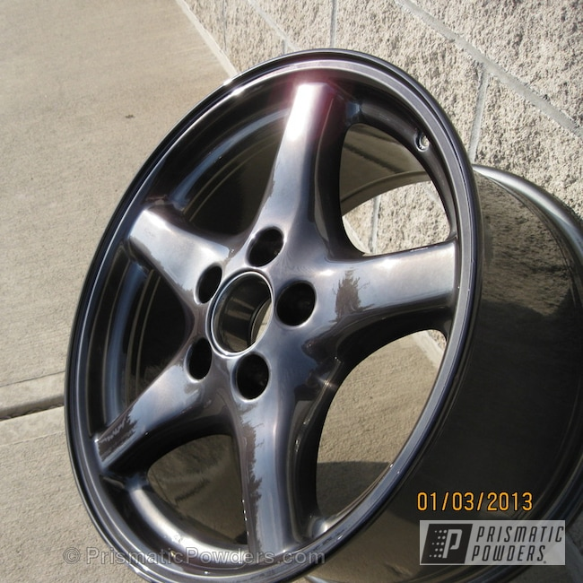 Powder Coating: Wheels,Custom,Black Chrome II PPB-4623,SUPER CHROME USS-4482,chrome,Black,powder coating,powder coated,Prismatic Powders,Trans am wheels