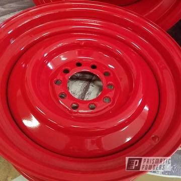 Powder Coated 15 Inch Steel Wheels In Ral 3002