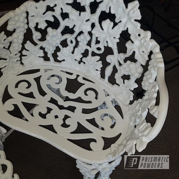 Powder Coated Refinished Cast Iron Patio Set In Pss-5690