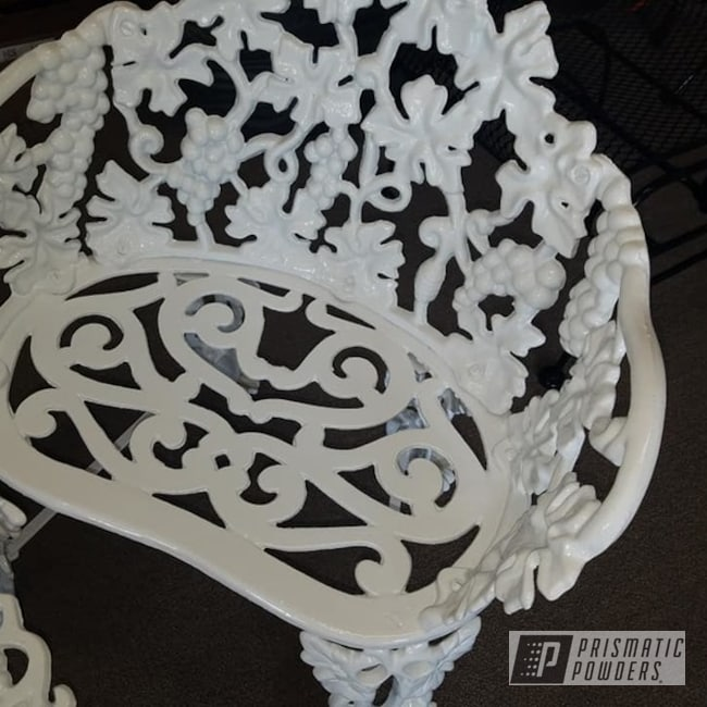 Powder Coating: Patio Chairs,Cast Iron Chairs,Cast Iron Setee,Vintage Lawn Furniture,Patio Funiture,Gloss White PSS-5690