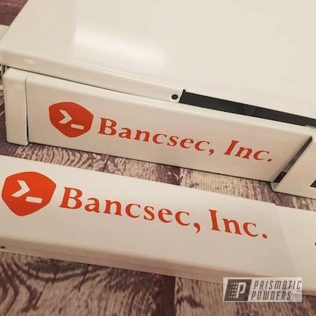 Powder Coating: 2 Color Application,Gloss White PSS-5690,Custom Logo,RAL 2010 Signal Orange,Computer Parts