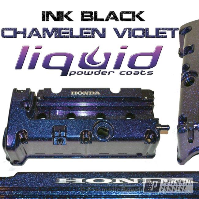 Powder Coating: Automotive,Chameleon Violet PPB-5731,Honda Valve Cover,Ink Black PSS-0106,Valve Cover