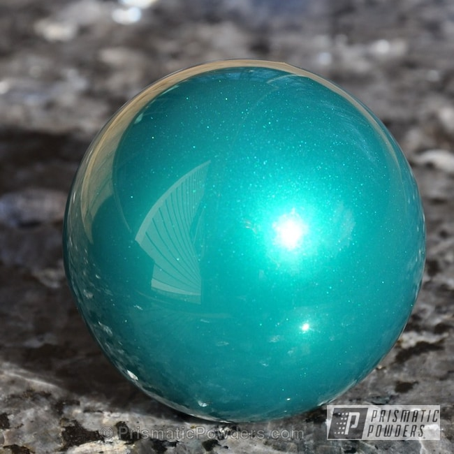 Powder Coating: Custom,Clear Vision PPS-2974,JAMAICAN TEAL UPB-2043,SUPER CHROME USS-4482,chrome,teal,powder coating,powder coated,Prismatic Powders,Custom Shift Knob,Miscellaneous