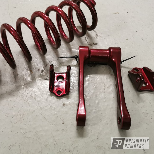 Powder Coating: Automotive,2007,Honda Motorcycle,Honda CR125,Honda,Motorcycles,Soft Red Candy PPS-2888