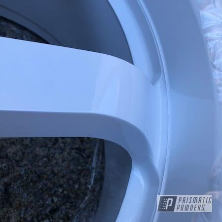 "Powder Coating: Wheels,GTR,19"",Automotive,1996,Nissan,Skyline,RB26,19"" Aluminum Rims,Gloss White PSS-5690,Nissan Skyline GT-R R33"