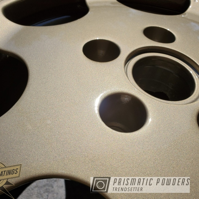 Powder Coating: Wheels,Titanium Gold PMB-0548,Automotive,Clear Vision PPS-2974,Porsche,Aluminum Wheels