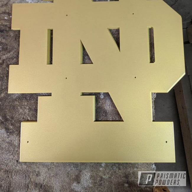 Powder Coating: Goldtastic PMB-6625,Miscellaneous,Metal Sign