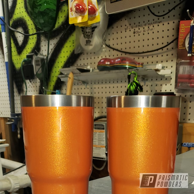 Powder Coating: Custom Cups,Clear Vision PPS-2974,Illusion Blueberry PMB-6908,Custom Tumbler Cup,Punisher