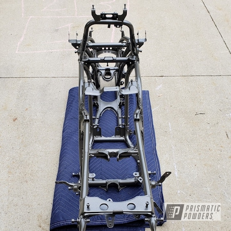 Powder Coating: ATV Frame,Automotive,ATV,Banshee,Yamaha,Seaside Bronze PMB-1964