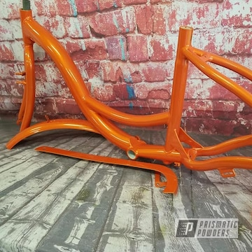 Powder Coated Orange Trike Frame