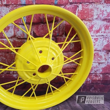 Powder Coated Yellow Model A Rims