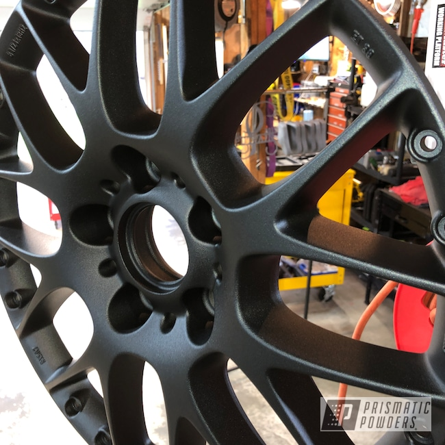 "Powder Coating: Wheels,Automotive,15"",Desert Charcoal Wrinkle PWB-2767"