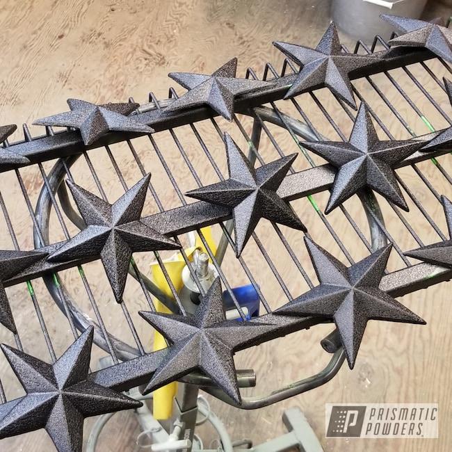 Powder Coating: Metal Art,Splatter Black PWS-4344,Star,Yard Art,Splatter Black,Spatter,Home Decor,Yard Decor