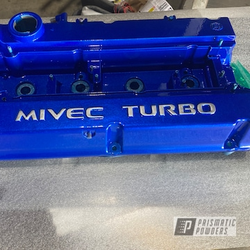 Powder Coated Mivec Turbo Cover In Pps-2974 And Pmb-6908