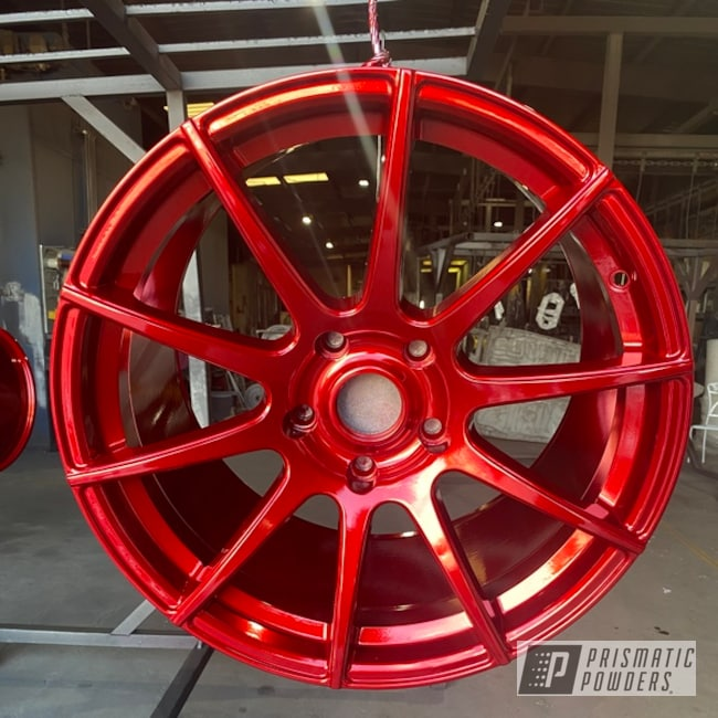 "Powder Coating: Wheels,Automotive,SUPER CHROME USS-4482,LOLLYPOP RED UPS-1506,Porsche,20"",20"" Aluminum Wheels"