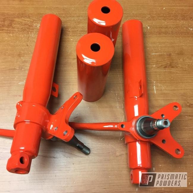 Powder Coating: Suspension Parts,RAL 2002 Vermilion,Suspension