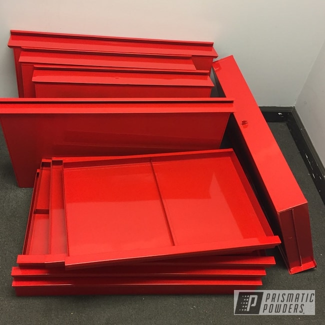 Powder Coated Refinished Tool Box Drawers