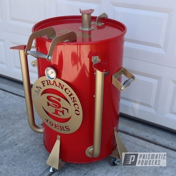 Powder Coated Sports Themed Smoker Grill