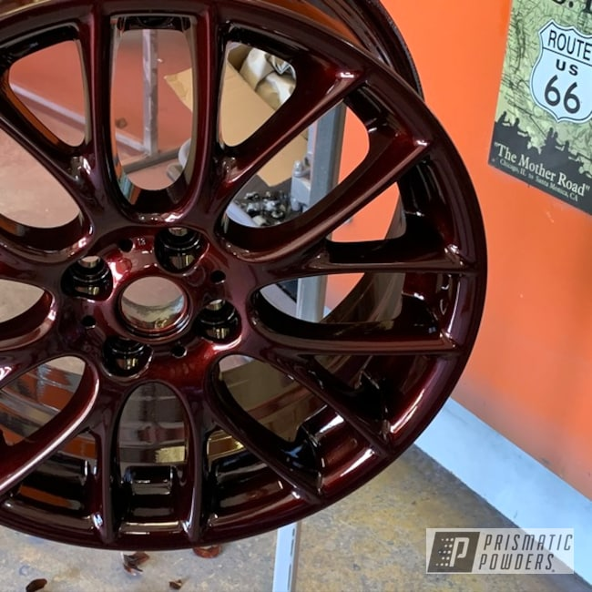 Powder Coated 18 Inch Aluminum Wheels In Pmb-8056 And Ppb-8057