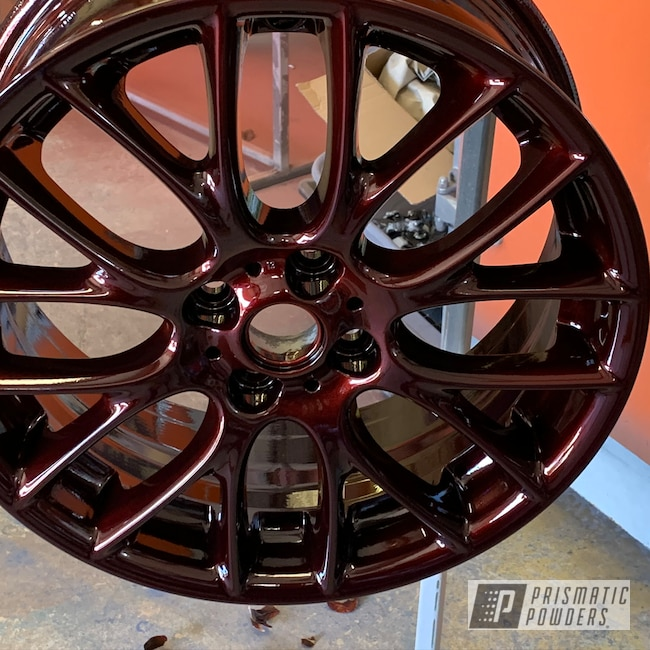 "Powder Coating: Wheels,Automotive,18"",DRAGONS BLOOD STEP 1 PMB-8056,DRAGONS BLOOD STEP 2 PPB-8057,18"" Aluminum Wheels"