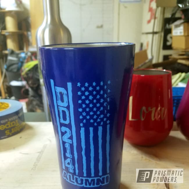Powder Coating: DD-214 Alumni,Powder Blue PSS-4009,20 OZ,MANHATTAN BLUE UMB-1930,20oz Tumbler,Ozark Trail