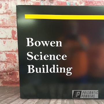 Powder Coated Metal Building Sign