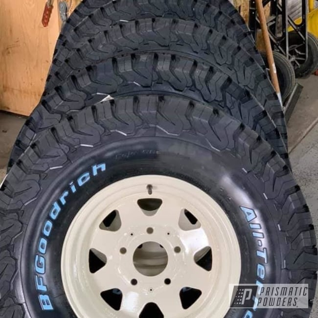 Powder Coated 15 Inch Ford Bronco Wheels In Ral 1013