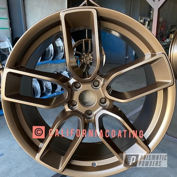 Powder Coated Custom Wheel In Pps-1334 And Pmb-5860