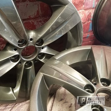 Powder Coated 18 Inch Wheels In Pps-2974 And Pmb-5027