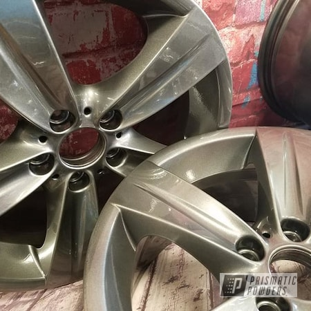 "Powder Coating: Wheels,Automotive,Clear Vision PPS-2974,Kingsport Grey PMB-5027,18"" Wheels,18"" Aluminum Rims,Automotive Rims,Aluminum Wheels"