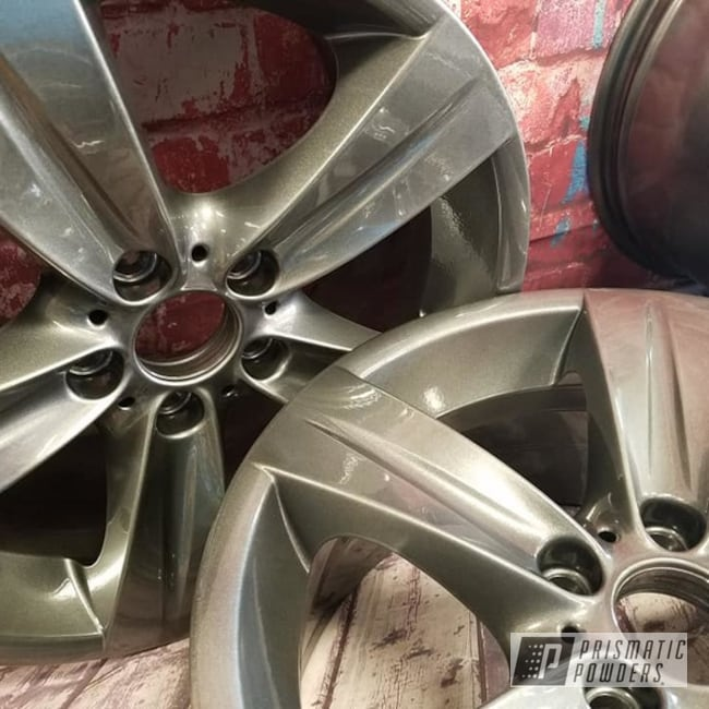 "Powder Coating: Wheels,Automotive,Clear Vision PPS-2974,Kingsport Grey PMB-5027,18"" Wheels,18"" Aluminum Rims,Automotive Rims,Aluminum Wheels"