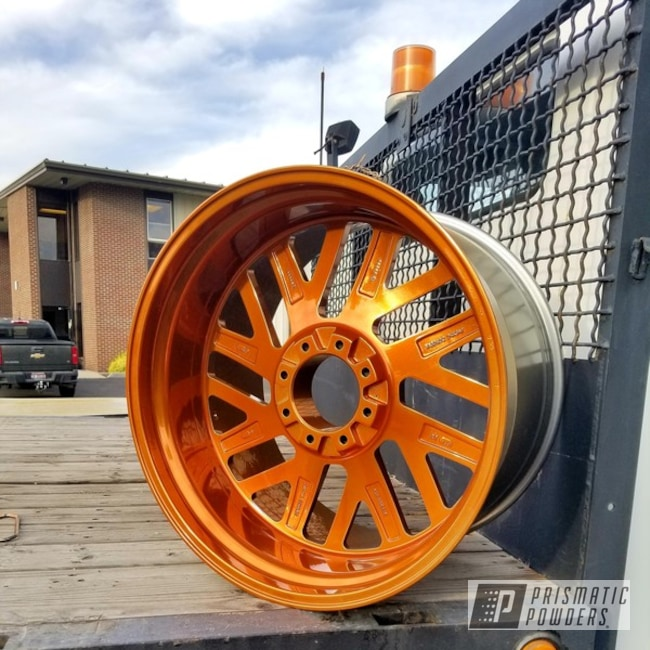 Powder Coating: Wheels,Truck,Automotive,Transparent Copper PPS-5162,POLISHED ALUMINUM HSS-2345,Automotive Rims