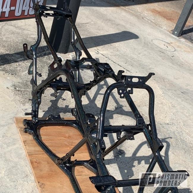 Powder Coating: Automotive,Banshee,banshee frame,Yamaha,Frame,Rainbow's End PMB-2691