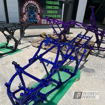Powder Coated Yamaha Banshee Frame In Ups-2502