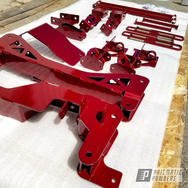 Powder Coating: Truck,Automotive,Clear Vision PPS-2974,Exhaust Tip,Illusion Cherry PMB-6905