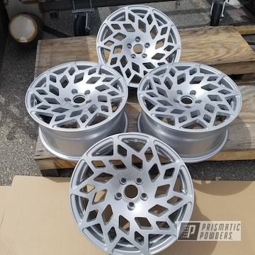 Powder Coated Set Of Rims In Pps-2974 And Pms-2569