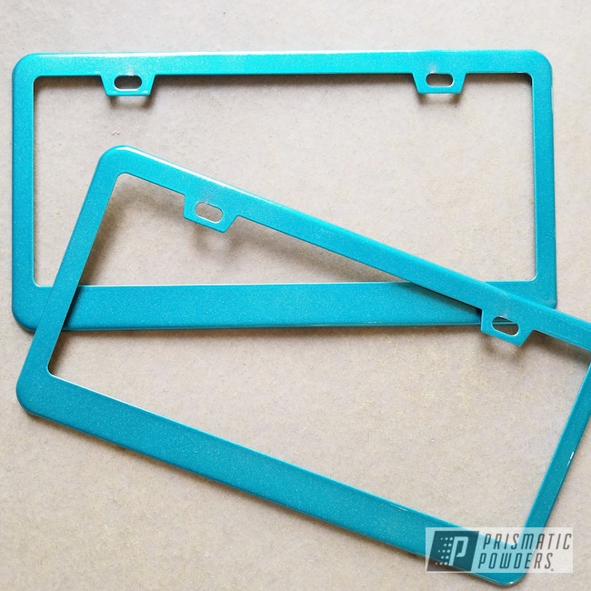 Powder Coating: Automotive,License plate frame,VIRGINIA TEAL UPB-1861