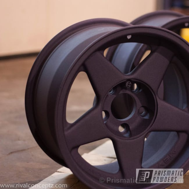 Powder Coating: Wheels,Custom,Automotive,powder coating,powder coated,Prismatic Powders,Plum Cast BMW wheels,Plum Cast PCB-1106