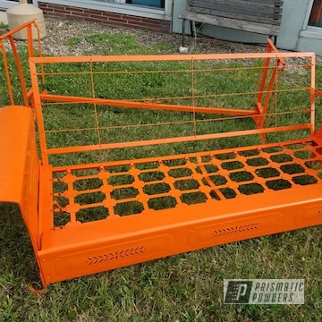 Powder Coated Powder Coated Orange Refinished Metal Glider