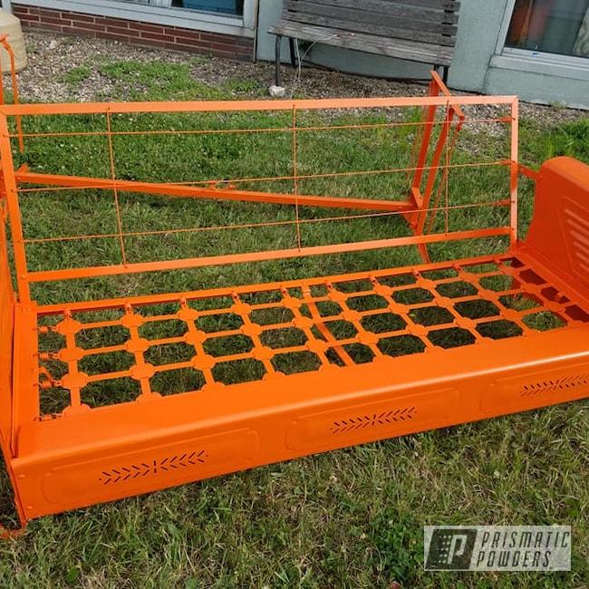 Powder Coating: RAL 2009 Traffic Orange,Patio Furniture,Glider,Outdoor Furniture,3 Seat Bench